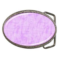 Hidden Pain In Purple Belt Buckle (oval) by FunWithFibro