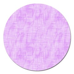 Hidden Pain In Purple Magnet 5  (round) by FunWithFibro