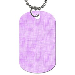 Hidden Pain In Purple Dog Tag (two Sided)  by FunWithFibro