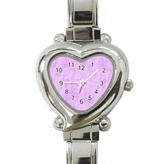 Hidden Pain In Purple Heart Italian Charm Watch  by FunWithFibro