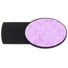 Hidden Pain In Purple 4gb Usb Flash Drive (oval) by FunWithFibro