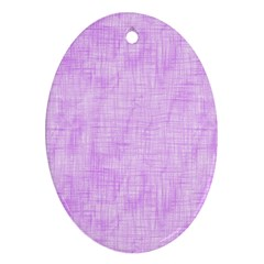 Hidden Pain In Purple Oval Ornament (two Sides) by FunWithFibro