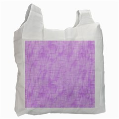 Hidden Pain In Purple White Reusable Bag (one Side) by FunWithFibro