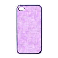 Hidden Pain In Purple Apple Iphone 4 Case (black) by FunWithFibro