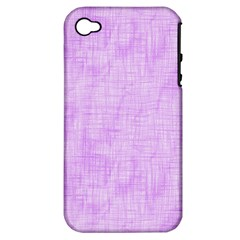 Hidden Pain In Purple Apple Iphone 4/4s Hardshell Case (pc+silicone) by FunWithFibro