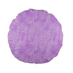 Hidden Pain In Purple 15  Premium Flano Round Cushion  by FunWithFibro