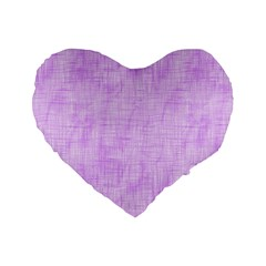 Hidden Pain In Purple 16  Premium Flano Heart Shape Cushion  by FunWithFibro