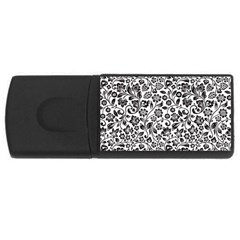Elegant Glittery Floral 4gb Usb Flash Drive (rectangle) by StuffOrSomething