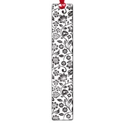 Elegant Glittery Floral Large Bookmark by StuffOrSomething