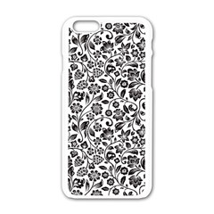Elegant Glittery Floral Apple Iphone 6 White Enamel Case by StuffOrSomething