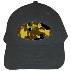 Camo Pattern  Black Baseball Cap