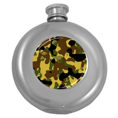 Camo Pattern  Hip Flask (round)