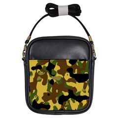 Camo Pattern  Girl s Sling Bag by Colorfulart23