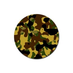Camo Pattern  Drink Coasters 4 Pack (round)