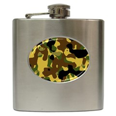 Camo Pattern  Hip Flask by Colorfulart23