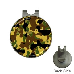 Camo Pattern  Hat Clip With Golf Ball Marker by Colorfulart23