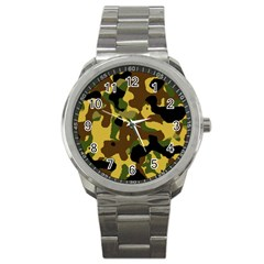 Camo Pattern  Sport Metal Watch by Colorfulart23