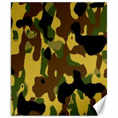 Camo Pattern  Canvas 20  X 24  (unframed)