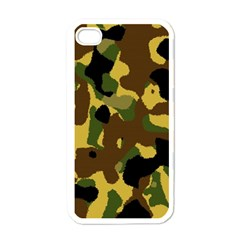 Camo Pattern  Apple Iphone 4 Case (white) by Colorfulart23