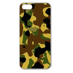 Camo Pattern  Apple Seamless Iphone 5 Case (clear)