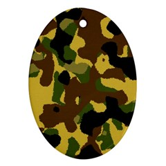 Camo Pattern  Oval Ornament by Colorfulart23