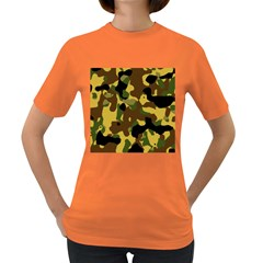 Camo Pattern  Women s T Shirt (colored) by Colorfulart23