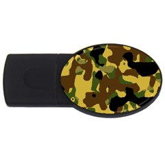 Camo Pattern  4gb Usb Flash Drive (oval) by Colorfulart23