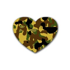 Camo Pattern  Drink Coasters (heart) by Colorfulart23