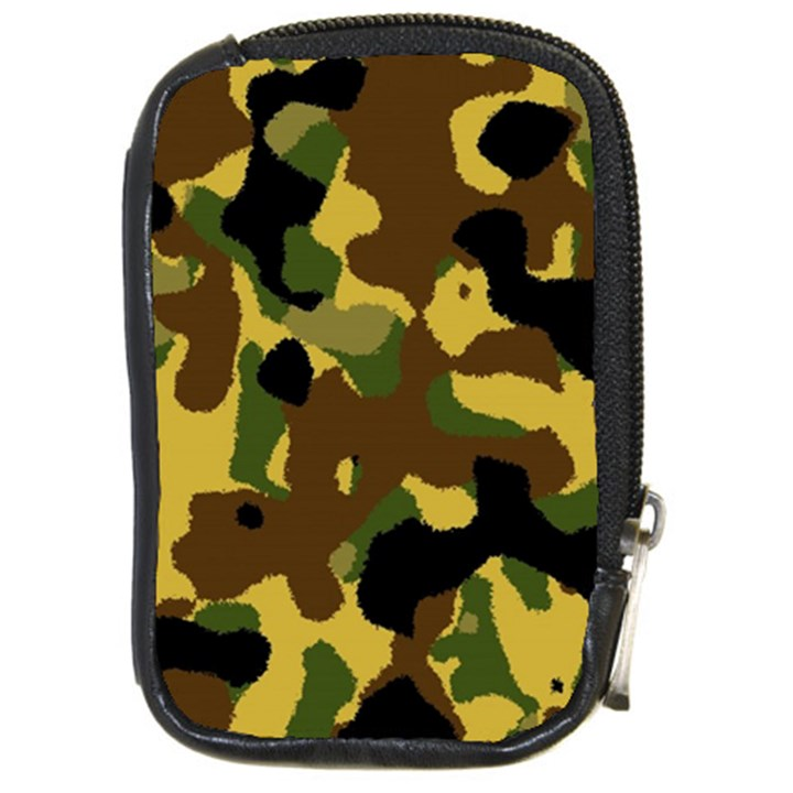 Camo Pattern  Compact Camera Leather Case