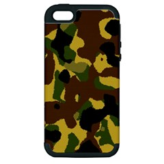 Camo Pattern  Apple Iphone 5 Hardshell Case (pc+silicone) by Colorfulart23