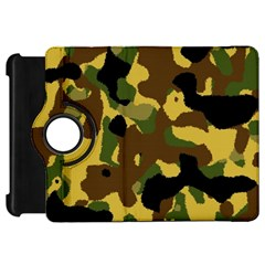 Camo Pattern  Kindle Fire Hd Flip 360 Case by Colorfulart23