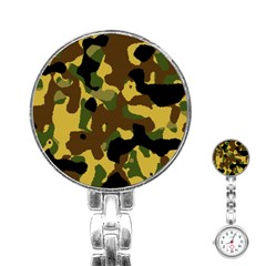 Camo Pattern  Stainless Steel Nurses Watch by Colorfulart23