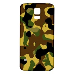 Camo Pattern  Samsung Galaxy S5 Back Case (white) by Colorfulart23