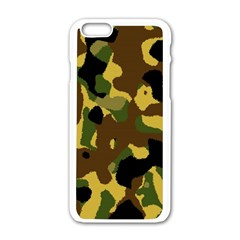 Camo Pattern  Apple Iphone 6 White Enamel Case by Colorfulart23