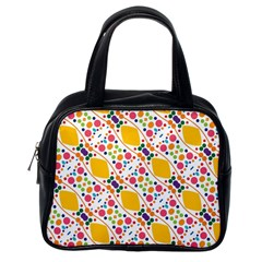 Dots And Rhombus Classic Handbag (one Side) by LalyLauraFLM