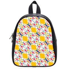 Dots And Rhombus School Bag (small) by LalyLauraFLM