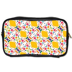 Dots And Rhombus Toiletries Bag (two Sides) by LalyLauraFLM