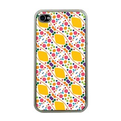 Dots And Rhombus Apple Iphone 4 Case (clear) by LalyLauraFLM