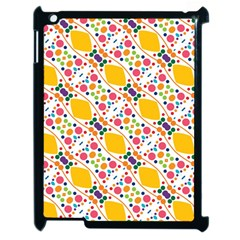 Dots And Rhombus Apple Ipad 2 Case (black) by LalyLauraFLM