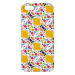 Dots And Rhombus Iphone 5s Premium Hardshell Case by LalyLauraFLM