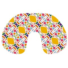 Dots And Rhombus Travel Neck Pillow