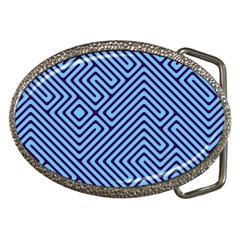 Blue maze Belt Buckle by LalyLauraFLM
