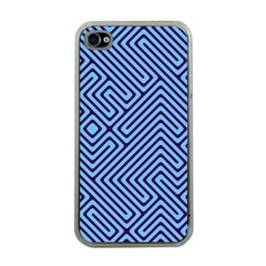 Blue Maze Apple Iphone 4 Case (clear) by LalyLauraFLM