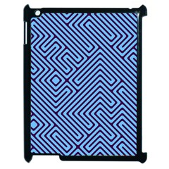 Blue Maze Apple Ipad 2 Case (black) by LalyLauraFLM