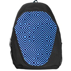 Blue Maze Backpack Bag by LalyLauraFLM