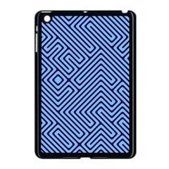 Blue Maze Apple Ipad Mini Case (black) by LalyLauraFLM