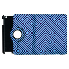 Blue Maze Apple Ipad 3/4 Flip 360 Case by LalyLauraFLM