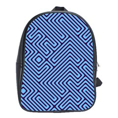 Blue Maze School Bag (xl) by LalyLauraFLM