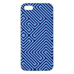 Blue Maze Iphone 5s Premium Hardshell Case by LalyLauraFLM