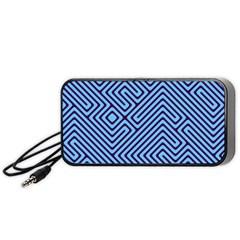 Blue maze Portable Speaker (Black) by LalyLauraFLM